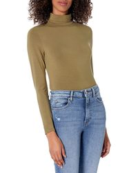 The Drop Phoebe T-shirt à manches longues et col roulé - Bleu