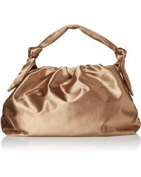 The Drop @lucyswhims Satin Knotted Handle Bag - Multicolor