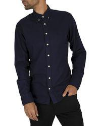Hackett Gmt Dye Oxford Bs Casual Shirt - Blue