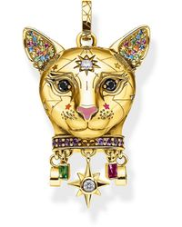 Thomas Sabo Pendentif Chat Or Argent Sterling 925 - Multicolore