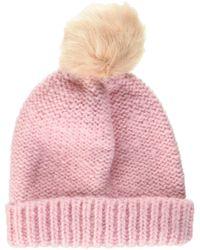 Dorothy Perkins Knit Pom Fur Beanie - Pink