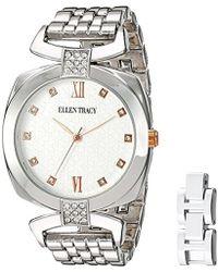 Ellen Tracy - Quartz Metal And Alloy Watch, Color:rose Gold-toned (model: Et5180rg) - Lyst
