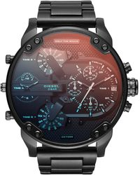 DIESEL Orologio Cronografo Quarzo Uomo con Cinturino in Acciaio Inossidabile DZ7415 - Nero