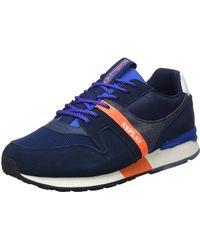 Replay Adrien - Tigher, Sneakers Basses , Orange (Navy Orange 369), 45 EU - Bleu