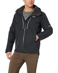 Jack Wolfskin S Sierra Trail 3in1 Waterproof Windproof Ski Jacket - Black