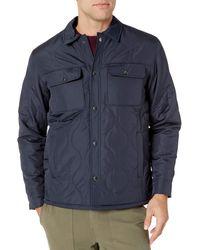 Amazon Essentials Quilted Shirt Jacket Outerwear - Bleu