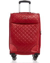 "Guess Horton 20"" 4-wheeler Carry-on Luggage - Red"