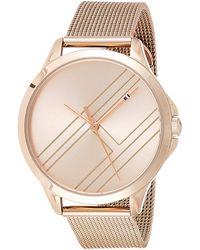 Tommy Hilfiger Reloj Analógico para Mujer de Cuarzo con Correa en Oro Rosa 1781963 - Neutro