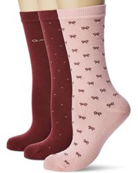 GANT D1. 3-pack Mixed Socks - Red