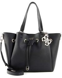 Guess Digital Drawstring Bag Black - Nero
