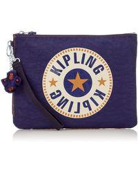 Kipling Ladies IAKA L WRISTLET porte-monnaie / sac à cosmétiques,Lot de 3 - Bleu