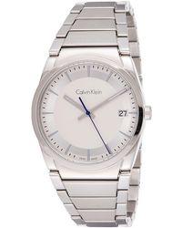 Calvin Klein S Analogique Quartz Montre avec Bracelet en Acier Inoxydable K6K31146 - Gris