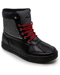 Nautica S Lockview Insulated Waterproof Snow Boot-Black Denim 1-12 - Noir