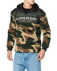 Superdry Sherpa Worldwide Stealth Half Ziphood Sweat-Shirt À Capuche - Vert