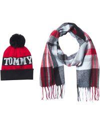 Tommy Hilfiger Logo Hat And Scarf Set - Multicolor