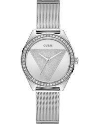 Guess Reloj Analógico para Mujer de Cuarzo con Correa en Acero Inoxidable W1142L1 - Metálico