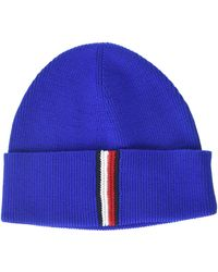 Tommy Hilfiger Th Rib Beanie Bonnet, - Bleu