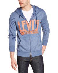 Levi's Graphic Zip Up Sweatshirt Langarm - Blau