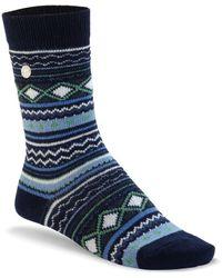 Birkenstock Calzini riscaldanti in misto lana di alta - Blu