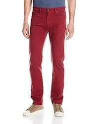 Levi's 513 Slim Straight Fit Jean - Red