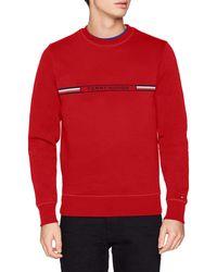 Tommy Hilfiger Tommy Logo Sweatshirt Sudadera - Rojo