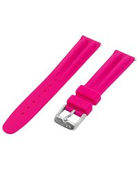 Nautica N11531M   A11531M NAC 102 Date Mid 18mm Pink Silicone Original Replacement Watch Band - Rosa