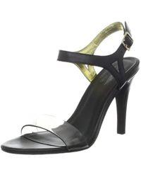 1e69f97b904 Steve Madden Women's Saffron Peep-toe Block-heel Sandals in Red - Lyst