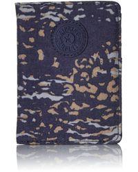 Kipling Portafoglio passport - Water Camo - Blu