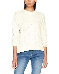 30c55b67d12 FRAME Cable And Open-knit Linen-blend Top in White - Lyst