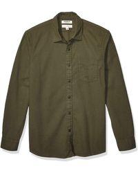 Goodthreads Chemise en flanelle brossée à manches longues pour homme Coupe - Vert