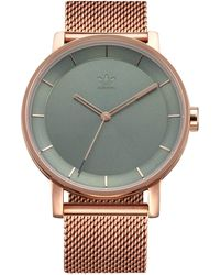 adidas Watches District_m1. Milanese Stainless Steel Bracelet - Green