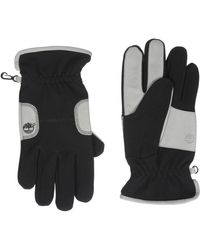 Timberland Ribbed Sports Glove With Palm Patch - Black