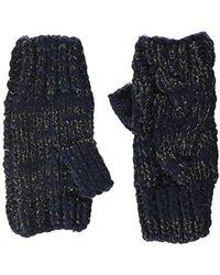 Dorothy Perkins Lurex Fingerless Gloves, Blue (navy), One (size: 1)