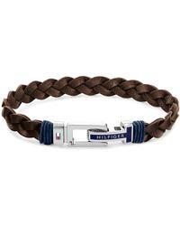 Tommy Hilfiger Leather Bracelet - Brown