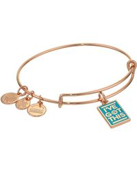 ALEX AND ANI - Barbie Charm Bangle Bracelet Rose Gold/i've Got This One Size - Lyst