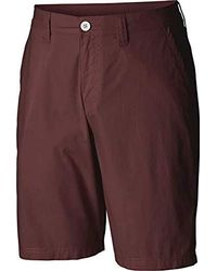 Columbia Washed Out Short, Cotton, Classic Fit - Purple