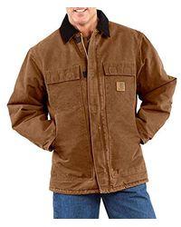 Carhartt - Big & Tall Arctic-quilt Lined Sandstone Duck Traditional Coat C26 - Lyst