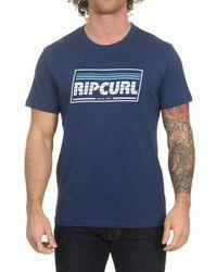Rip Curl Heren T Shirt Yo Mama S/S Tee Indigo S - Blu