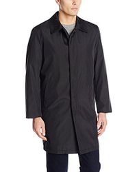 Perry Ellis - Poly Bonded Raincoat With Zip Out Liner - Lyst