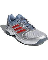 adidas Essence Chaussures de Handball Silvmt Hirere Rawgre - Bleu