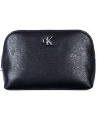 Calvin Klein Minimal Monogram Make Up Bag Other Slg - Black