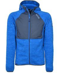 Regatta S Rocknell Panelled Hooded Stretchy Hybrid Fleece Jacket - Blue