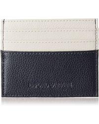 Emporio Armani Homme porte-carte de crédit blue/beige - Multicolore