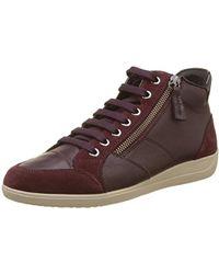 Geox - D Myria C Hi-top Sneakers - Lyst