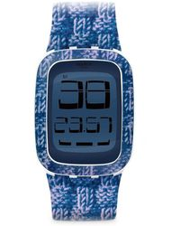 Swatch Watch Touch SURW110 DOUBLE KNIT - Blau