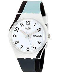 Swatch Uhren Analog Quarz Silikon 32011347 - Weiß
