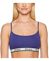 Mae - Cotton Pullover With Logo Elastic Everyday Bralette (for A-c Cups) - Lyst