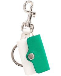 Le Tanneur Porte clés sans Couture en Cuir Lisse . - Vert