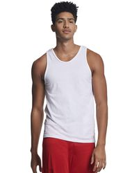 Russell Athletic Cotton Performance Tank Top - White