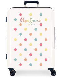 Pepe Jeans Emma Rigid Suitcase Set 55-70 Cm White